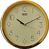 Ajanta Quartz Plastic Wall Clock-957Dx Golden Ring (26Cm X 26Cm, Ivory)