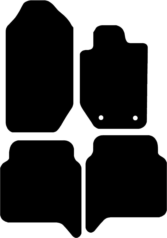 1997-2003 Deluxe Black with Black Trim Connected Essentials CEM500 Car Mat Set for Mitsubi Galant