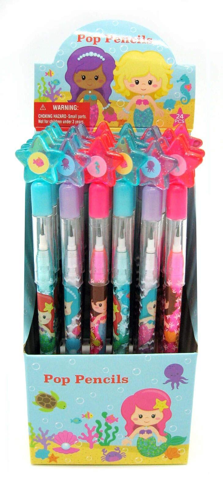 TINYMILLS 24 Pcs Mermaids Multi Point Pencils by TINYMILLS