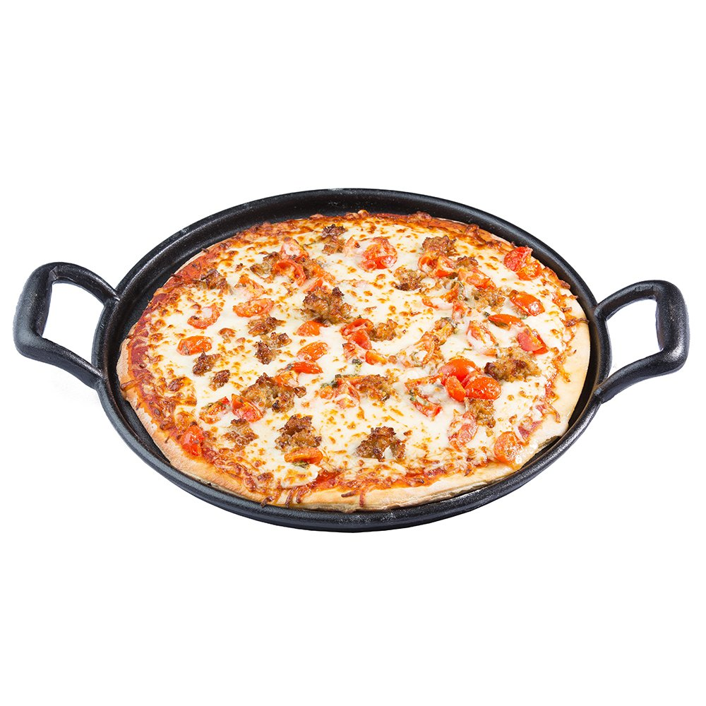 TableCraft 13.5'' Pre-seasoned Cast Iron Baking and Pizza Pan | Commerical Quality for Restaurant or Home Kitchen Use