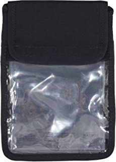 "product image for LOKSAK SPLASHSAK PDA/ID Neck Caddy Case, 5x7"", Includes 4.5 x 7"" aLokSak Waterproof Resealable Bags, Black"