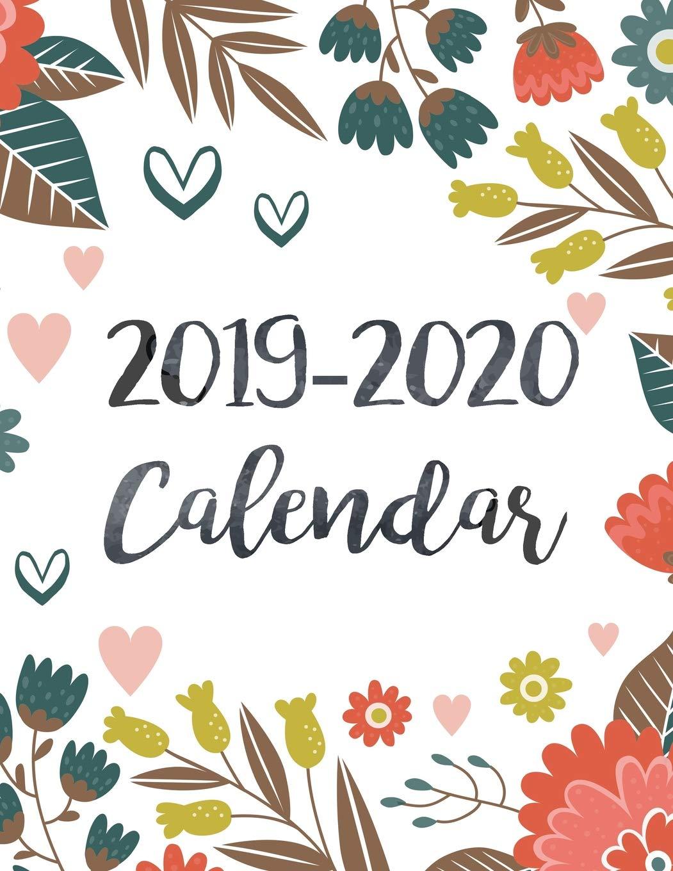 December 2020 Calendar With Clipart 2019 2020 Calendar: Daily Weekly Monthly Calendar Planner | 24