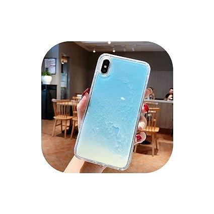 Amazon.com: Carcasa luminosa de arena de neón para iPhone XR ...