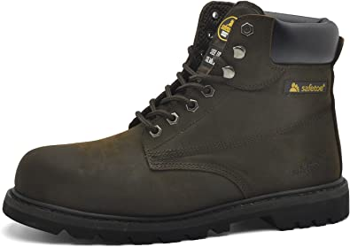 MEN WOMEN SAFETY TRAINERS SHOES BOOTS WORK STEEL TOE CAP HIKER ANKLE SIZE 2-12