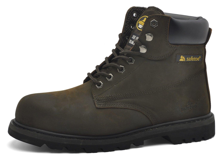 Men Safety Work Steel Toe Cap Boots