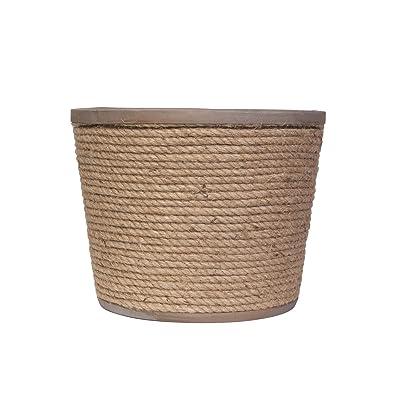 Panacea 83442 Nautical Rope & Metal planters Garden Accessories, 12 in, sea Salt Rust: Garden & Outdoor