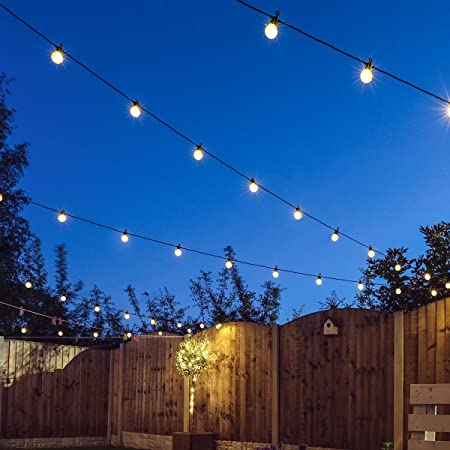 Festive lights extendable festoon lights clear bulb 20 warm festive lights extendable festoon lights clear bulb 20 warm white leds 8m black mozeypictures Choice Image