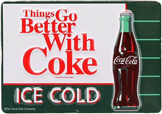 Amazon.com: Open Road Brands Coca-Cola Things Go Better with Coke ...