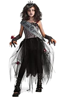 Girls Gothic Prom Queen Fancy Dress Costume Rubies Childs Halloween Outfit