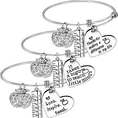 Amazon.com: Nzztont - Juego de 3 pulseras para profesor ...