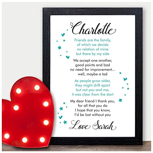 personalised best friend friendship plaque sign birthday christmas gifts present personalised with any name and