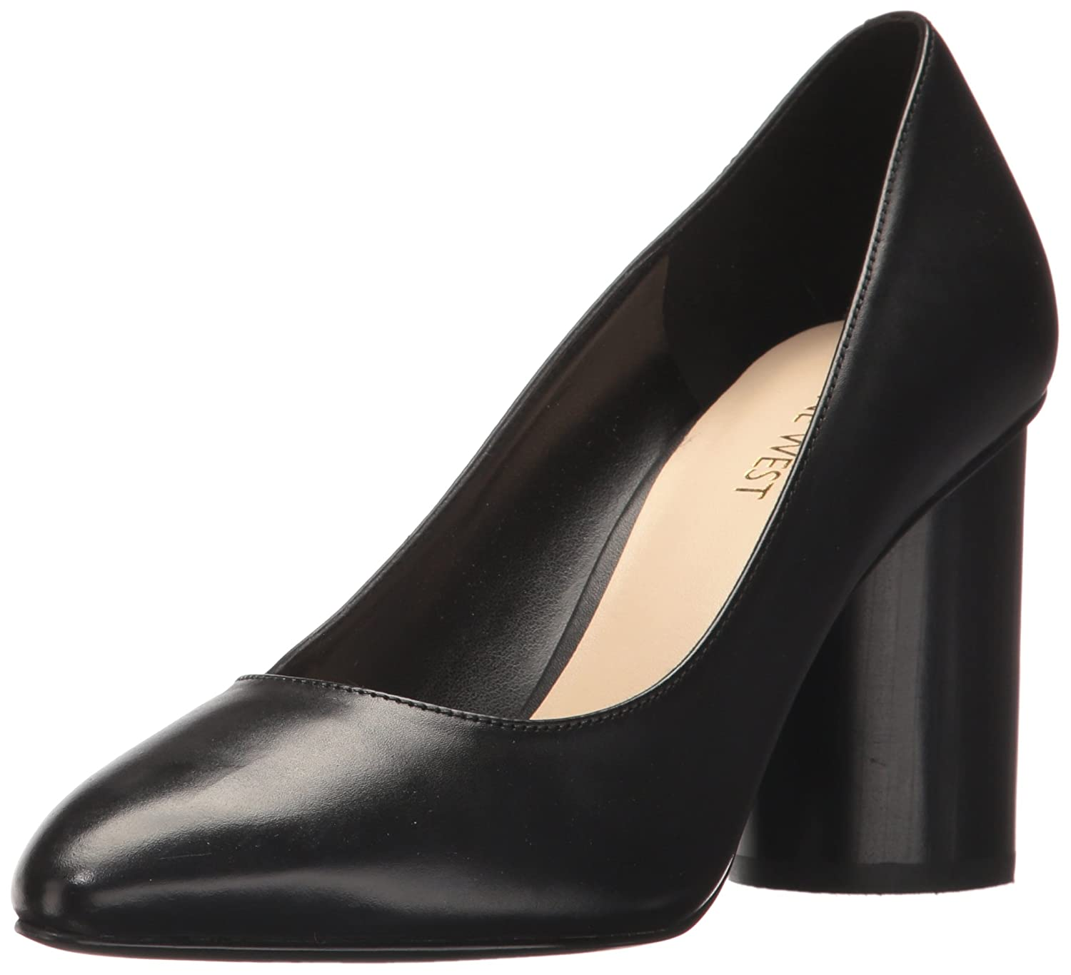Nine West Women's Cardya Leather Pump B06X91BPQB 9 B(M) US|Black Leather