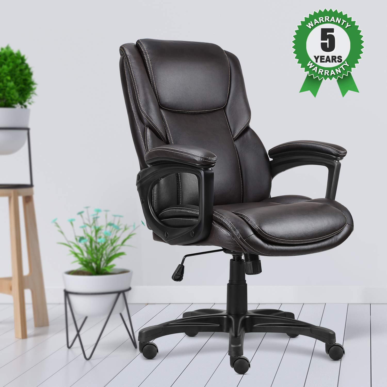 A Idiots Information To Adjustable Workplace Desk Defined Executive Office Chair with Brown Leather, Swivel Desk Chair for Home and  Office, Ergonomic