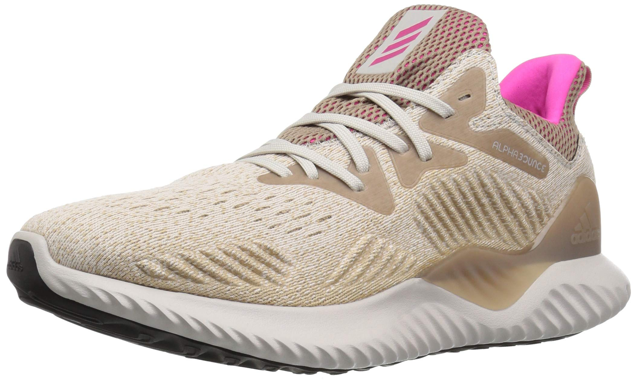 adidas Men's Alphabounce Beyond Running Shoe, Chalk Pearl/Shock Pink/Trace Khaki, 7.5 M US by adidas (Image #1)