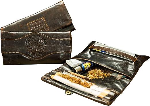 Kavatza en piel – Estuche para tabaco – Pouch – The Bulldog Kavatza – Cuaderno Slim: Amazon.es: Hogar