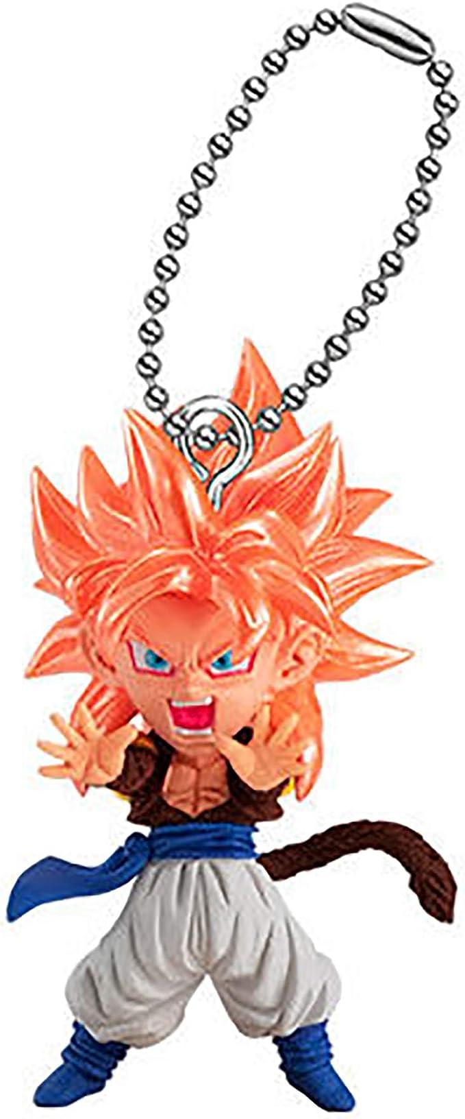 1set DB Dragon Ball Super UDM Burst 39 Gogeta Vegetto Gotenks Fu Android 18 PVC Figure Model Dolls Key Chain 6pcs