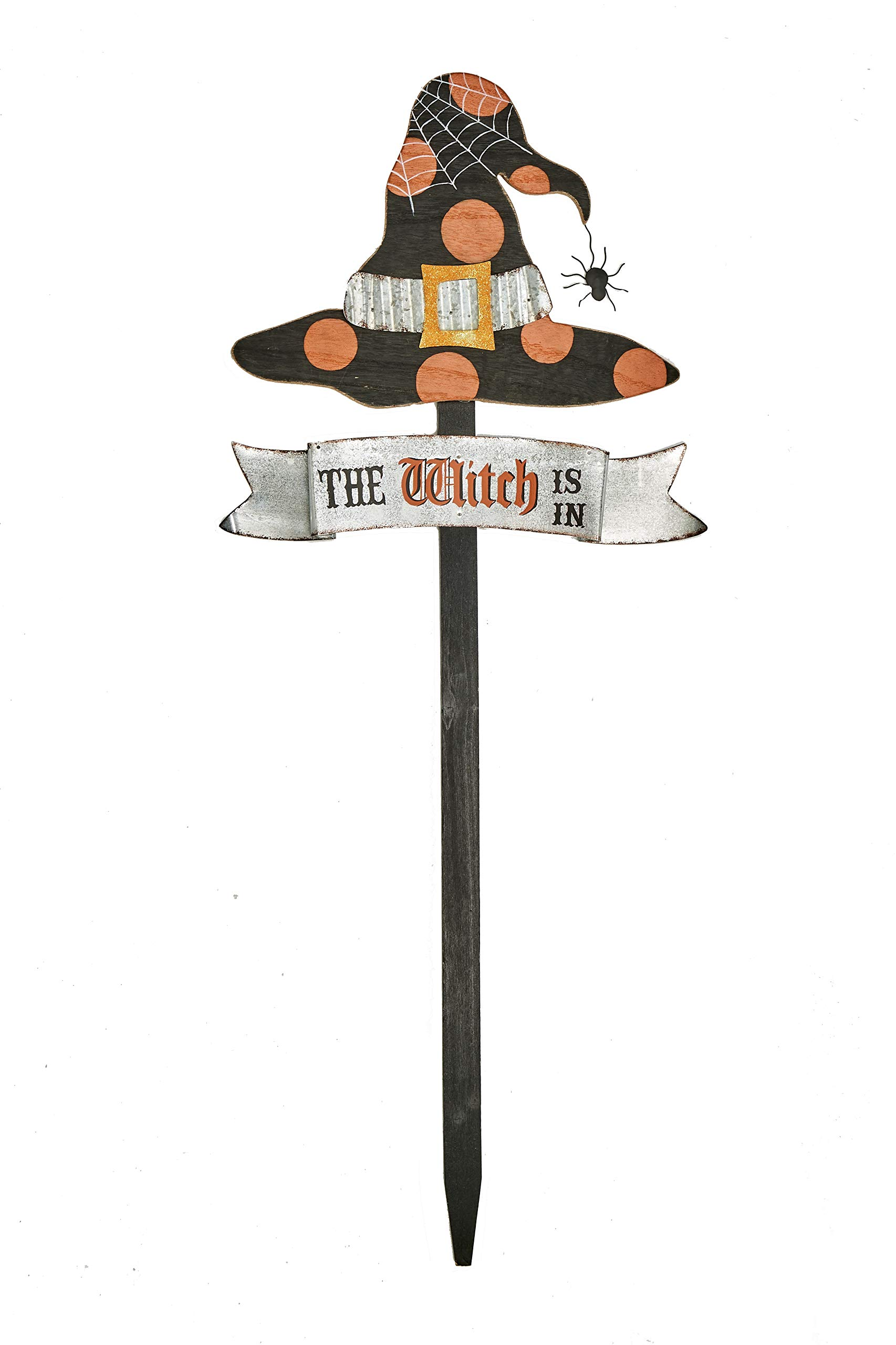 Worth Imports 8884WI Halloween Sign 35'' Wood Witch Stake