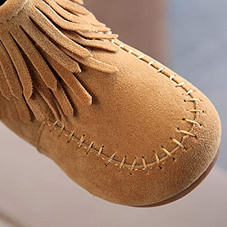 Amazon.com: Little Kids Winter Boots,Jchen(TM) Kids Baby Infant Boys Girls Child Suede Leather Winter Fringe Tassel Boots Snow Boots Shoes for 1-6 Y: Garden ...