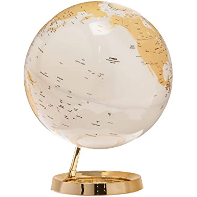 Waypoint Geographic Light & Color Designer Series 12-inch Illuminated Decorative Desktop Globe (Gold): Office Products