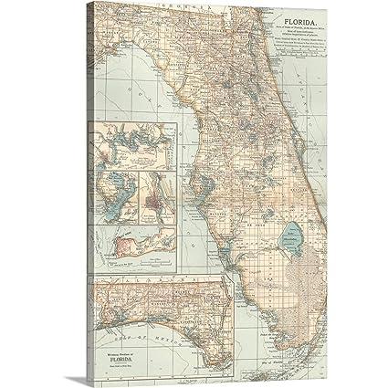 Map Central Florida.Amazon Com Encyclopaedia Britannica Premium Thick Wrap Canvas Wall