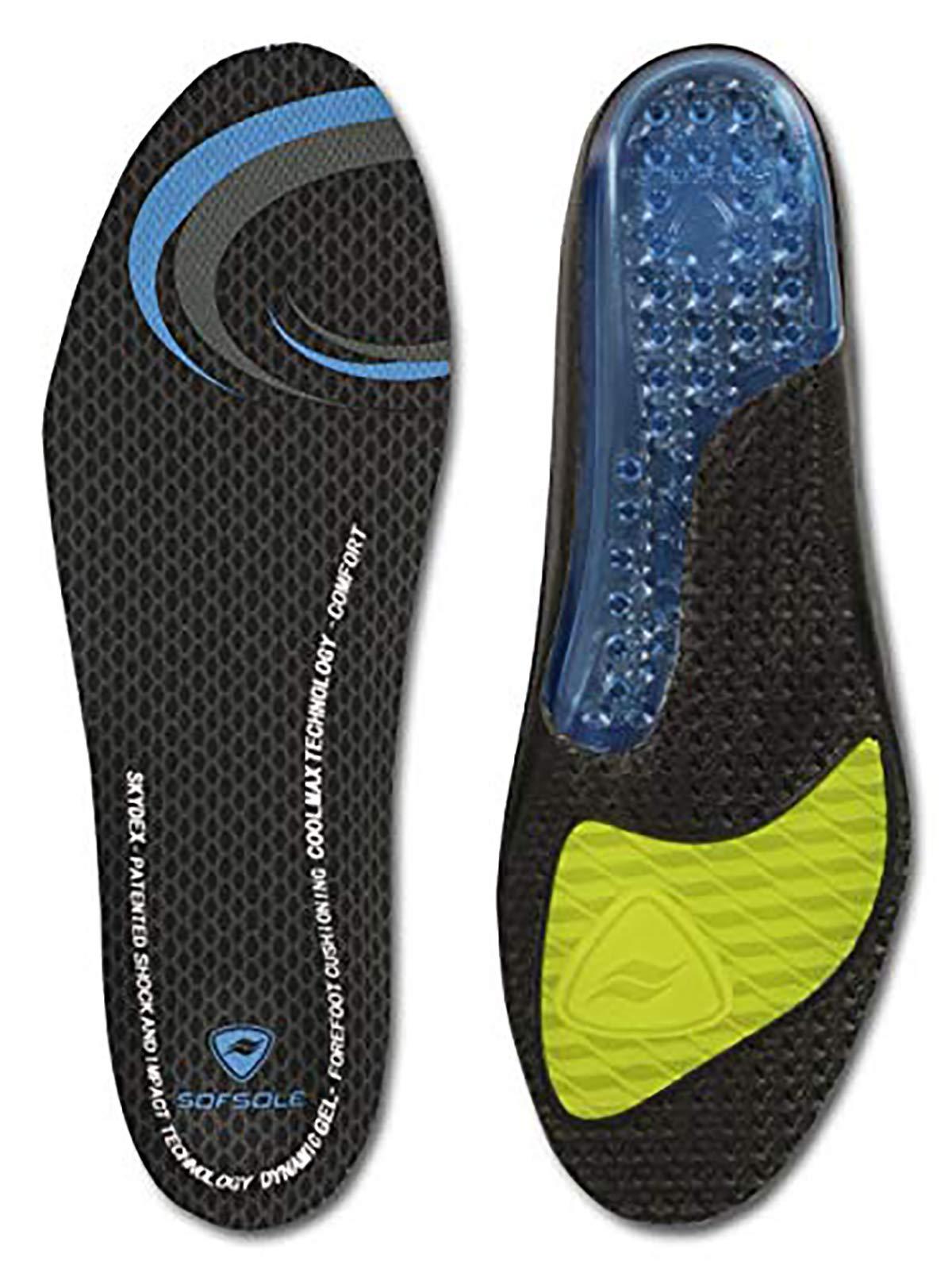 Sof Sole Women's Airr Full Length Performance Gel Shoe Insole, Women's Size 8-11 Black