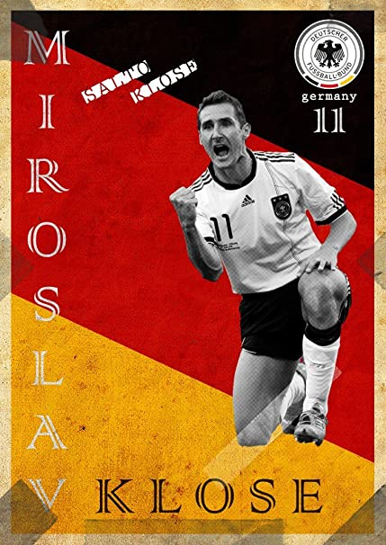 athah designs miroslav klose germany fine quality sports wall poster
