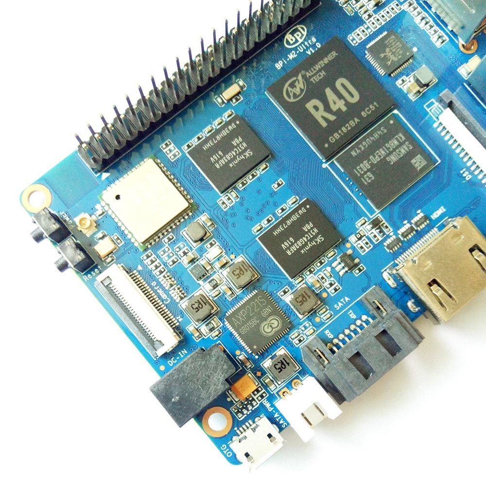 Banana Pi BPI M2 Ultra R40 Quad-Core 2GB DDR3 RAM with SATA WiFi Bluetooth 8GB eMMC demo board Single Board Computer by SmartFly Info (Image #6)