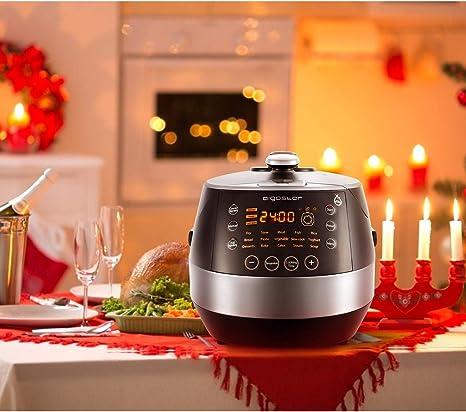 Aigostar Happy Chef 30KHF – Enchufe británico de 3 pines, 7 aparatos en uno, 15 funciones y gran panel led, 900 W, capacidad 5l.: Amazon.es: Hogar
