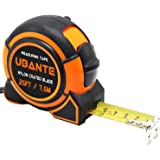 UBANTE Measuring Tape Measure 1-Inch x 25-Foot(7.5m) Retractable Heavy Duty with Magnetic Hook, Metric and Inches Measurement - Professional Ruler For Carpenter, Construction, DIY Measurement