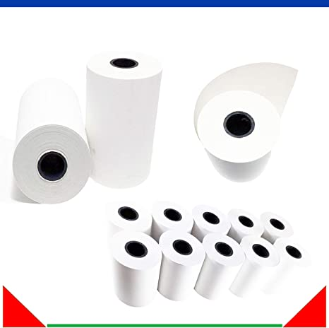 """2 1//4/"""" x 85/' Thermal Credit Card Paper Rolls 50 Rolls 1 Case"""