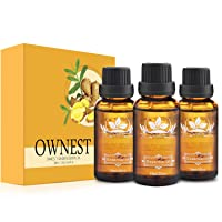 Ownest 3 Pack Ginger Massage Oil,100% Pure Natural Lymphatic Drainage Ginger Oil...