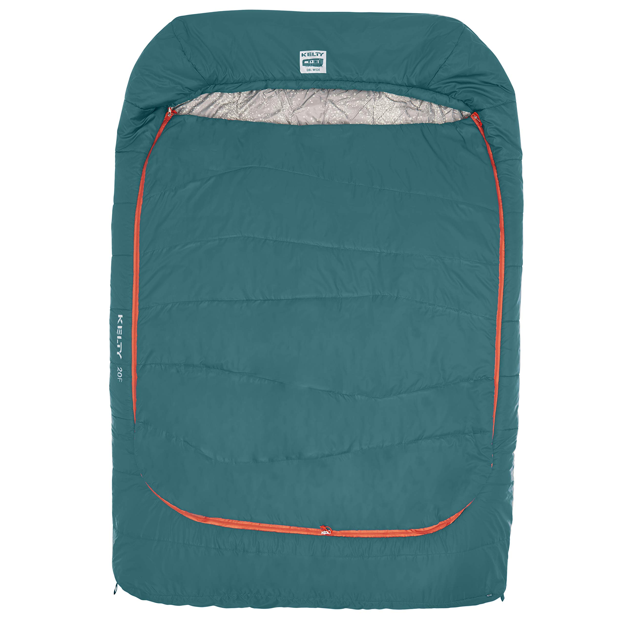 Kelty Tru.Comfort Doublewide 20 Degree Sleeping Bag - Two Person Synthetic Camping Sleeping Bag for Couples & Family Camping - Stuff Sack Included by Kelty