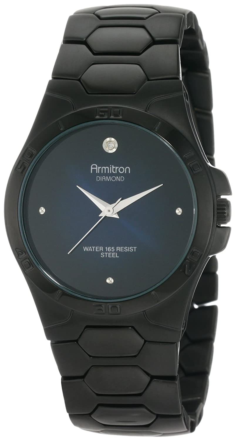 Buy armitron mens 204213dbti diamond accented black ion plated buy armitron mens 204213dbti diamond accented black ion plated stainless steel dress watch online at low prices in india amazon fandeluxe Gallery