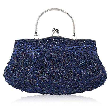 e814ebac6a Women's Vintage Evening Bag Beaded Embroidered Handbag Clutch Purse ...
