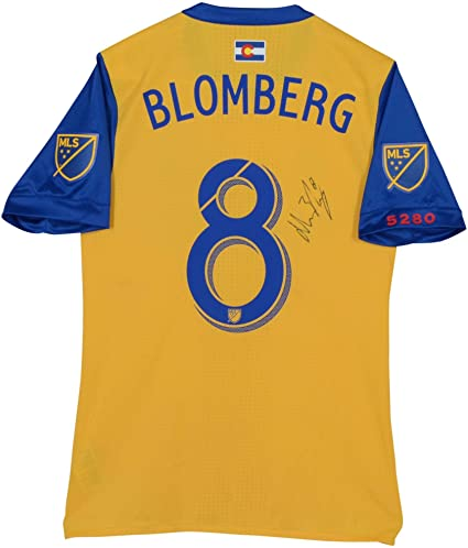 650002ad4 Johan Blomberg Colorado Rapids Autographed Match-Used Yellow  8 ...