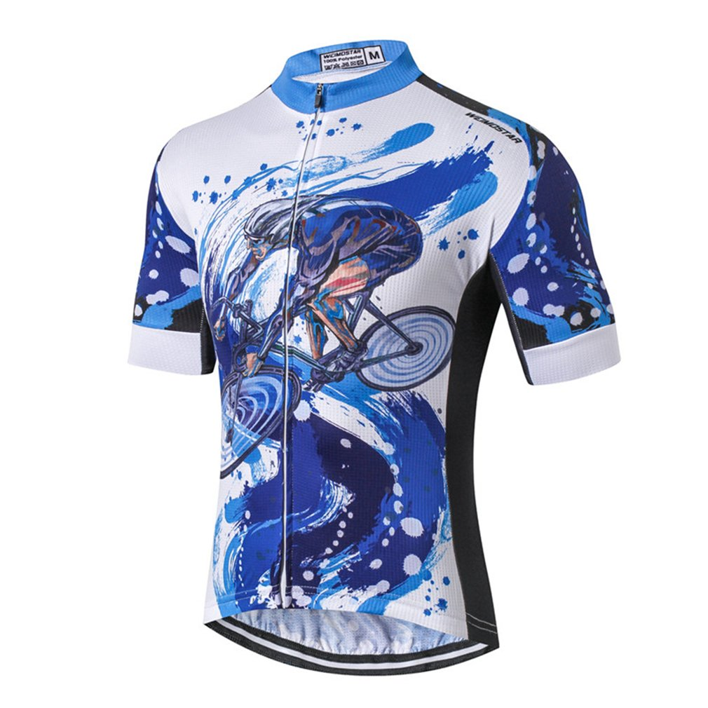 Cycling Jersey Men Top Racing Sport Summer MTB Short Sleeve Bicycle Clothing