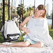 Oxgord 2-in-1 Chevron Nursing Blanket/Scarf/Car Seat Cover
