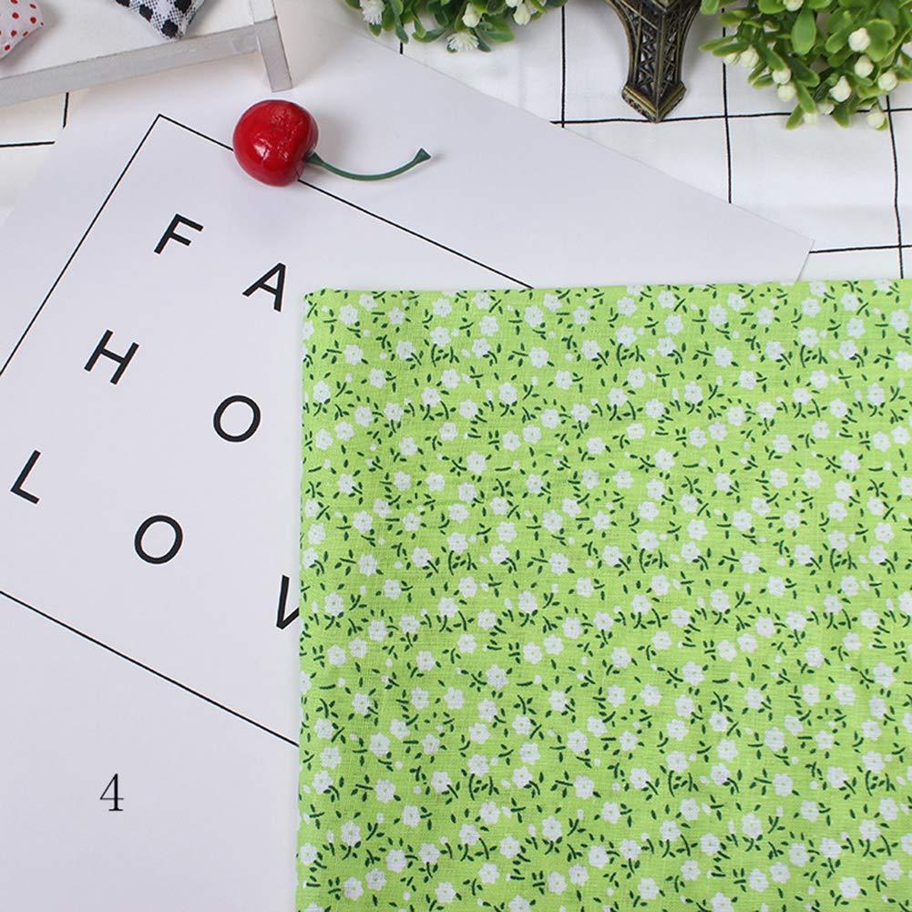Azul TOPINCN 7 unids 50 50 cm Telas de Algod/ón DIY Puntos Florales Cuadrados Precortados Quarter Bundle Patchwork Textiles para El Hogar para Coser