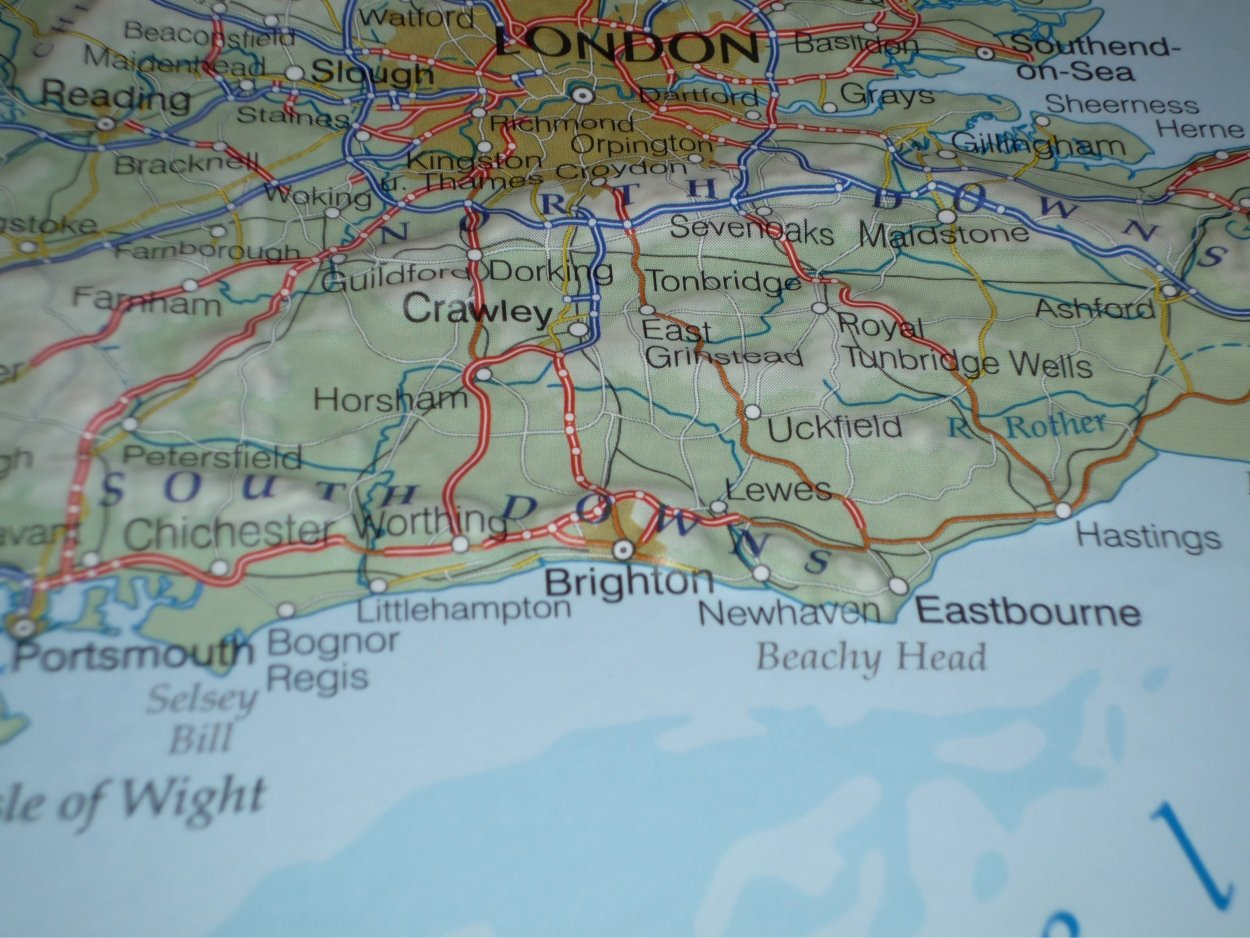 Beachy Head England Map