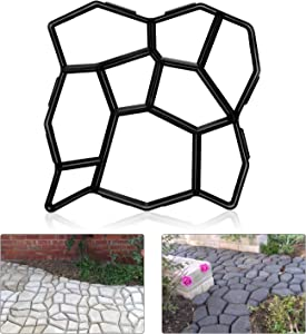 LEDMOO Walk Maker Reusable Concrete Path Garden Path Wall Pavement Mold for Garden Patio Patios and Hikes