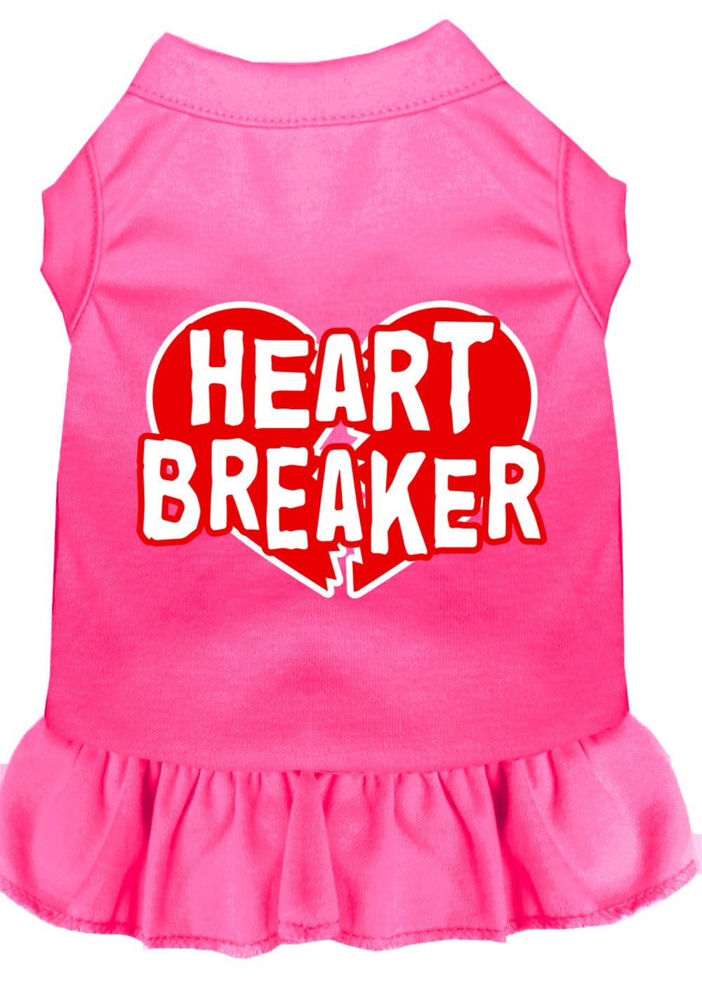 Mirage Pet Products 58-05 4XBPK Pink 4 Heart Breaker Screen Print Dress Bright, 4X-Large
