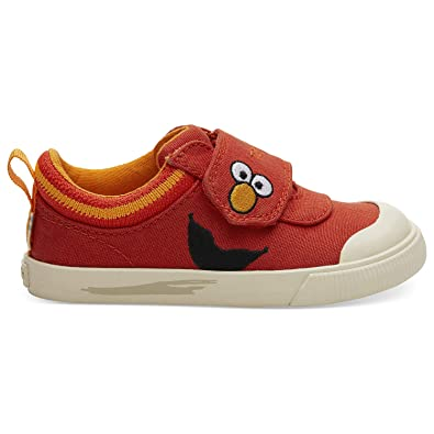 3d46391a1ef TOMS Sesame Street X Elmo Face Tiny Doheny Sneakers 10013634 (Size: 4) Red