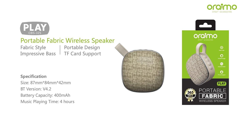 Oraimo Poratable Fabric Wireless Bt Speaker Electronics Accessories 2
