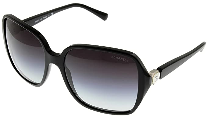 Chanel Sunglasses Women Black CH5284 C760S6: Amazon.ca: Clothing ...