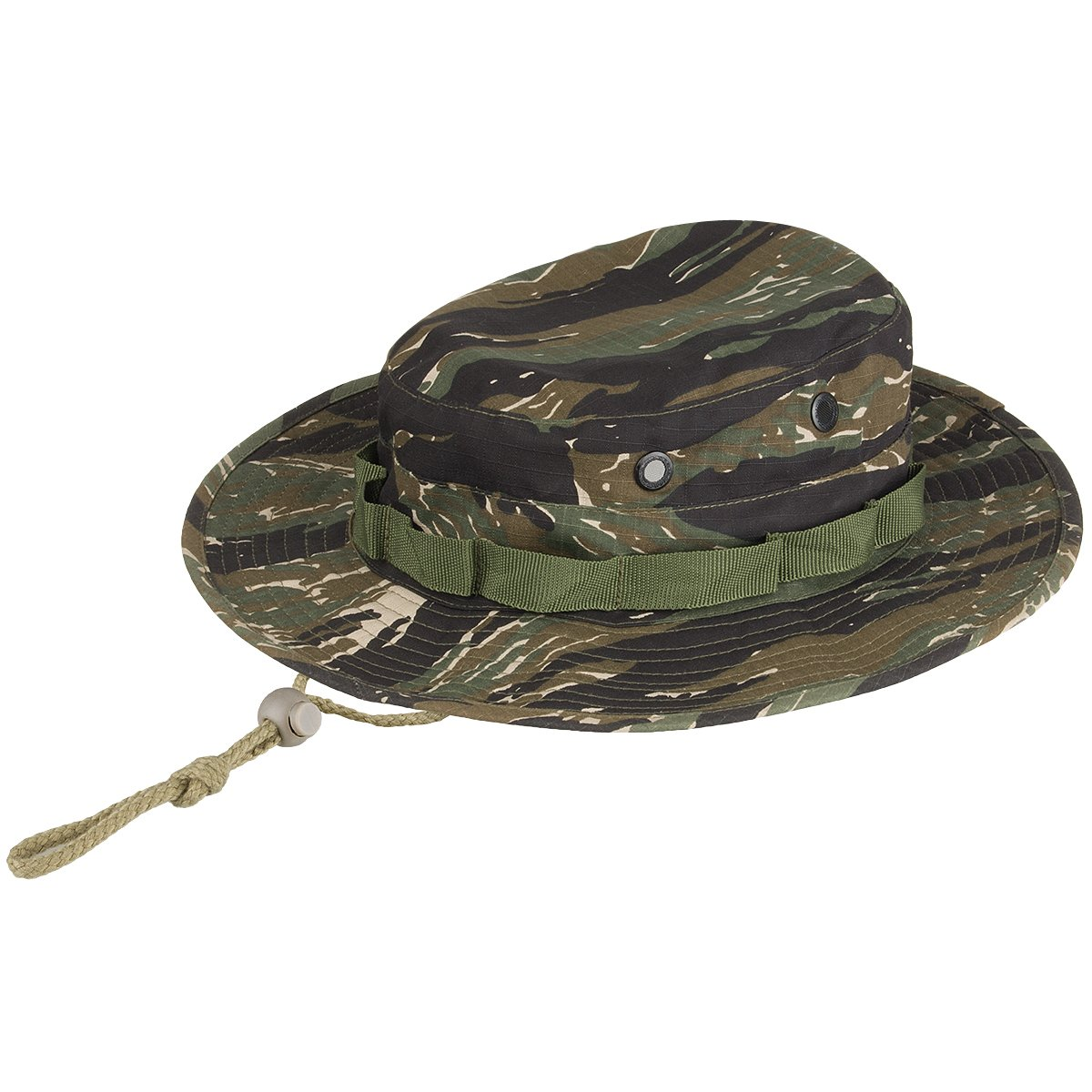 Army Boonie Bush Jungle Hat Cap Tiger Stripe Camo MFH