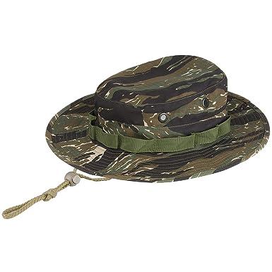 Army Boonie Bush Jungle Hat Cap Tiger Stripe Camo  Amazon.co.uk  Clothing 4537f39a990