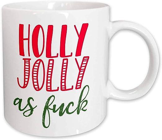 Christmas Holly Jolly as Fuck 3dRose Lenas Photos T-Shirts