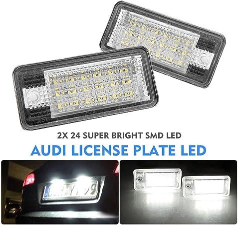 Alftek 2 Teile Satz Auto Led Lampe Lizenz Nummernschild Lichter Für A3 S3 A4 B6 B7 A6 S6 A8 Rs4 Auto