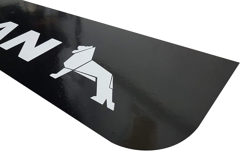 2 unidades 60 x 18 cm remolque color negro Guardabarros de goma para cami/ón cami/ón