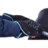ByBoom® Scaldamani termoattivo in softshell; Manicotto funzionale per le mani con interno in pile, misura universale per carrozzina, passeggino e rimorchio per la bicicletta